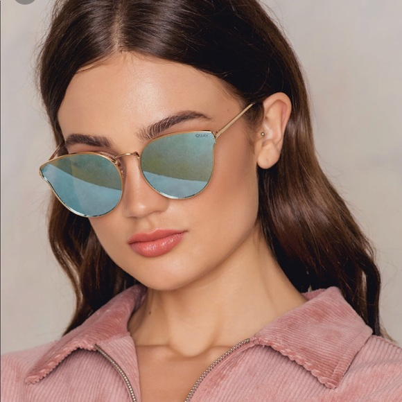 19b110dd63b7 QUAY All My Love Blue Silver Mirror Sunglasses